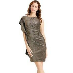 VINCE CAMUTO Gold Holiday Dress